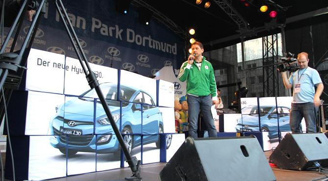 Stage program at Hyundai Fan Park Dortmund