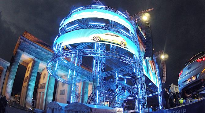 Broadcast screen setup at Hyundai Fan Park Berlin