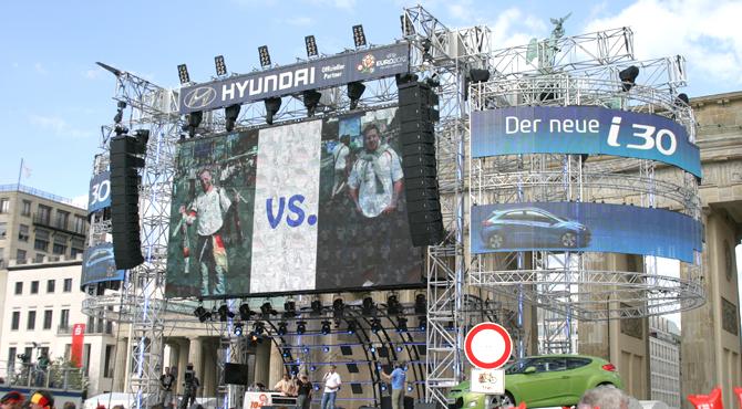 Stage program organized at Hyundai Fan Park Berlin