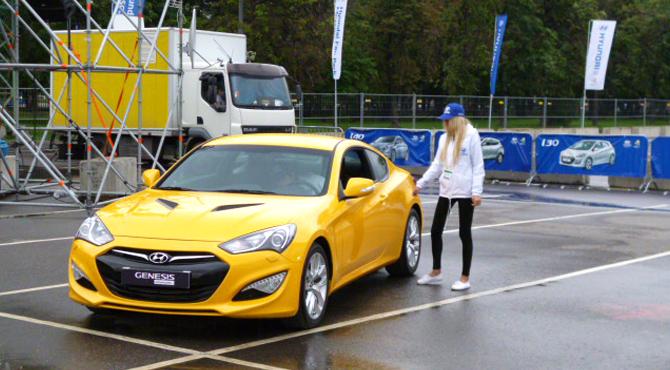 Test drive at Hyundai Fan Park Turin