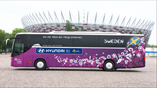 Team buses provided by Hyundai for EURO 2012
