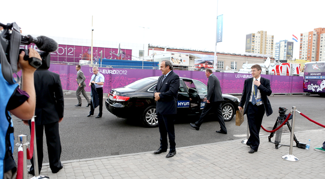 Hyundai provided vehicles for transportation of UEFA officials
